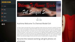 Screenshot of Chennaiescortgirl.co.in main page