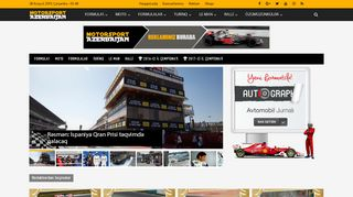 Screenshot of F-1.az main page