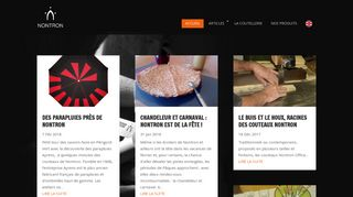 Screenshot of Couteau-nontron-france.fr main page