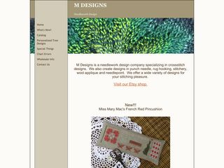 Screenshot of M--designs.net main page