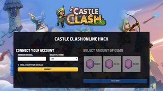 Screenshot of Castleclashgiveaways.top main page