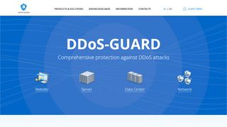 Screenshot of Ddos-guard.net main page