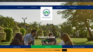 Screenshot of Must.edu.eg main page