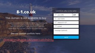 Screenshot of 8-1.co.uk main page