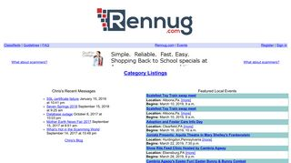 Screenshot of Classifieds.pennswoods.net main page