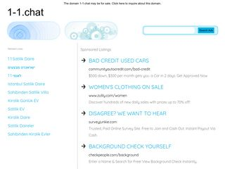 Screenshot of 1-1.chat main page