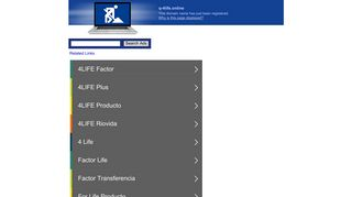 Screenshot of Q-4life.online main page