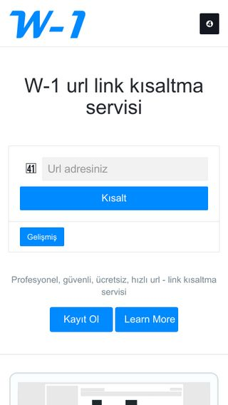 Mobile screenshot of W-1.org